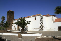 Church of Our Lady of Candelaria in La Oliva, Fuerteventura Stock Photography