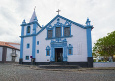 Church of Our Lady of the Conception, Angra do Heroismo, Terceira island, Azores. Church of Our Lady of the Conception Santuario Nossa Senhora da Conceicao, in royalty free stock image