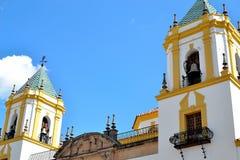 Church Our Lady Del Socorro in Ronda, Spain Stock Image
