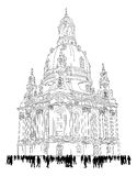 Church of our lady - Dresden Germany Royalty Free Stock Photos