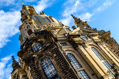 Church of Our Lady in Dresden Stock Images