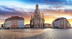Church of Our Lady - Dresden, Germany Stock Photos