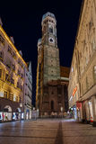 Church of Our Lady (Frauenkirche) in Munich at Night, Bavaria Stock Image