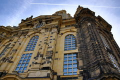 Church of our lady Frauenkirche, Old Building in Center of City Dresden, Germany Stock Photography