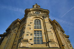 Church of our lady Frauenkirche, Old Building in Center of City Dresden, Germany Stock Photos