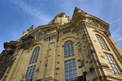 Church of our lady Frauenkirche, Old Building in Center of City Dresden, Germany Stock Image