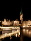 Church of Our Lady (Fraumunster) by Night Stock Photo