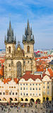 Church of Our Lady in front of Tyn Stock Photography