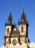 Church Of Our Lady In Front Of Tyn. Old Town Square in Prague, Czech Republic Royalty Free Stock Photography