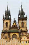 Church of Our Lady in front of Tyn stock image
