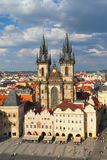 Church of Our Lady in front of Tyn (Prague). Tourists on Old town square in Prague (Czech Republic Stock Photos