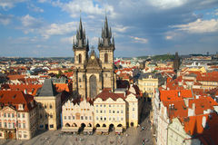 Church of Our Lady in front of Tyn (Prague) stock images