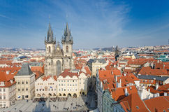 Church of Our Lady in front of Tyn, Prague Stock Photos
