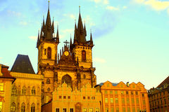 Church of Our Lady in front of Tyn, Prague, Czech Republic. Royalty Free Stock Image