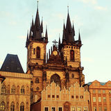Church of Our Lady in front of Tyn, Prague, Czech Republic. Stock Photography