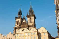 Church of Our Lady in front of Tyn, Prague, Czech Republic Stock Images