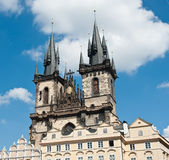 Church of Our Lady in front of Tyn, Prague, Czech Republic Royalty Free Stock Image