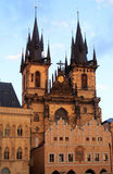 Church of Our Lady in front of Tyn, Prague, Czech Republic. Royalty Free Stock Photos