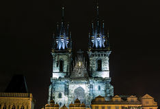 Church of Our Lady in front of Tyn Royalty Free Stock Image