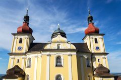Church of Our Lady of Good Counsel in Dobra Voda, Czech Republic, sunny summer. Day stock image