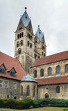 The Church of Our Lady in Halberstadt, Germany. The Church of Our Lady is 12th century Romanesque basilica with transept in Halberstadt, Germany royalty free stock image