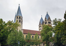 The Church of Our Lady in Halberstadt, Germany. The Church of Our Lady is 12th century Romanesque basilica with transept in Halberstadt, Germany Royalty Free Stock Photography