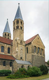 The Church of Our Lady in Halberstadt, Germany. The Church of Our Lady is 12th century Romanesque basilica with transept in Halberstadt, Germany Royalty Free Stock Photos