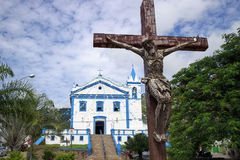 The Church of our Lady of help on Ilhabela Island, Brazil Royalty Free Stock Image