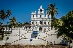 Church of Our Lady of the Immaculate Conception. Beautiful Church of Our Lady of the Immaculate Conception, Panaji, Goa, India royalty free stock image