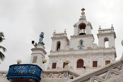 The church of Our Lady of the Immaculate Conception Church in Go. A Panjim. Taken in India, August 2018 stock images