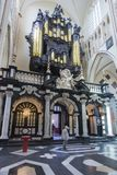 Church of Our Lady interior, Bruges, Belgium Royalty Free Stock Photos