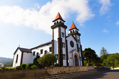 Church of Our Lady of Joy (Nossa Senhora da Alegria) in Furnas, Portugal. Royalty Free Stock Images