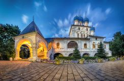 Church of Our Lady of Kazan in Kolomenskoe, Moscow. At dusk HDR image stock photo