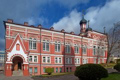 Church of Our Lady of Kazan. Rozhdestvensky Convent . royalty free stock image