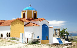 Church of Our Lady of Kyparissia on Kos. Church of Our Lady of Kiparisiya. The village of Zia in Kos. Greece Stock Photo