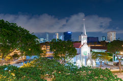 The Church of Our Lady of Lourdes is a Catholic church in Singapore stock photo