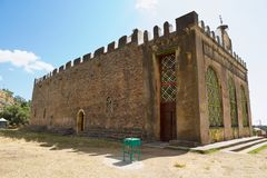Church of Our Lady Mary of Zion, the most sacred place for all Orthodox Ethiopians in Aksum, Ethiopia. Royalty Free Stock Photos