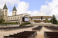Church of Our Lady at Medjugorje in Bosnia Herzegovina Stock Images