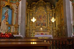 Church of Our Lady of Monte interior, Funchal royalty free stock photo