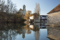 The church of Our Lady in Moret-sur-Loing Stock Image