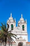 Church of Our Lady of Nazare Igreja de Nossa Senhora da Nazare. Located on the  Nazare, Portugal Stock Photo