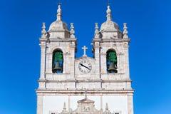 Church of Our Lady of Nazare Igreja de Nossa Senhora da Nazare. Located on the  Nazare, Portugal Stock Images
