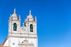Church of Our Lady of Nazare Igreja de Nossa Senhora da Nazare. Located on the  Nazare, Portugal Royalty Free Stock Images