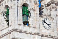 Church of Our Lady of Nazare Igreja de Nossa Senhora da Nazare. Located on the  Nazare, Portugal Stock Image