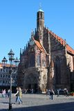 Church of our Lady, in Nuremberg, Germany, Europe royalty free stock image
