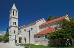 The church of Our Lady Out of Town in Šibenik. Church of Our Lady Out of Town; very old building with distinctive name that describes how church was outside the Royalty Free Stock Photography