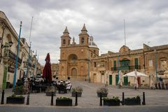 The church of our Lady of Pompei in Marsaxlokk. royalty free stock photo