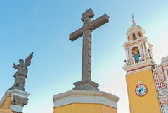 Church of Our Lady of Remedies in Cholula. Mexico Stock Photography