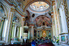 Church of Our Lady of Remedies in Cholula Stock Images