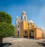 Church of Our Lady of Remedies at the top of Cholula pyramid - Cholula, Puebla, Mexico Stock Image